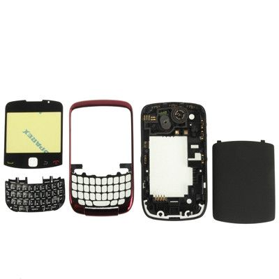 Full Housing Replacement Cover for BlackBerry 9300(Red)