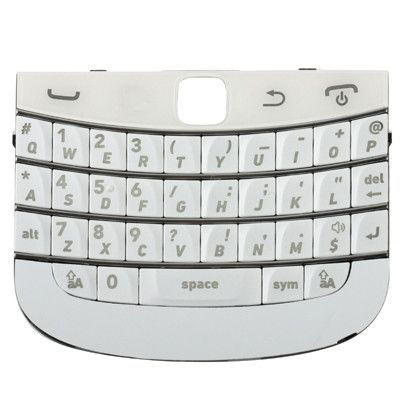 High Quality Version Replacement Keyboard for BlackBerry 9900(White)