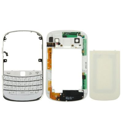 High Quality Full Housing Replacement Cover for BlackBerry 9900(White)