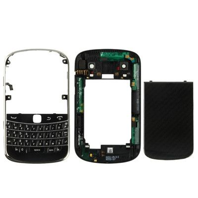High Quality Full Housing Replacement Cover for BlackBerry 9900(Black)