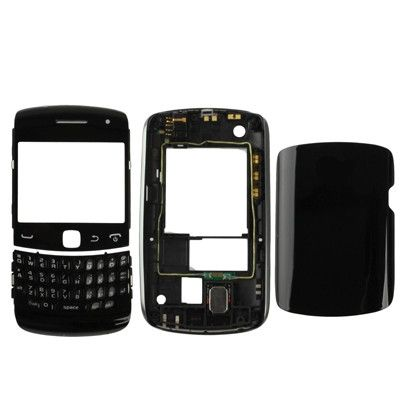 Full Housing Replacement Cover for BlackBerry Curve 9360, Black (High Quality Version)(Black)