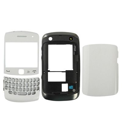Full Housing Replacement Cover for BlackBerry Curve 9360, White (High Quality Version)(White)
