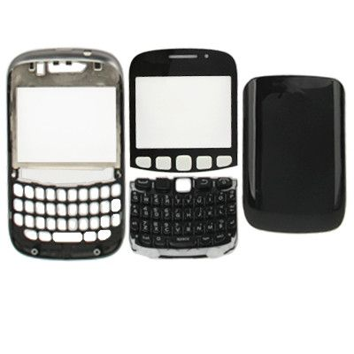 High Quality (Keyboard + Former Shell + Frame + Battery Cover) for BlackBerry 9320(Black)