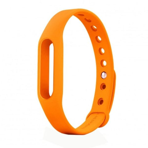 TPSIV Silicone Colorful Replacement Wristbands Bracelet for Xiaomi Smart Wristband (Host not include)(Orange)