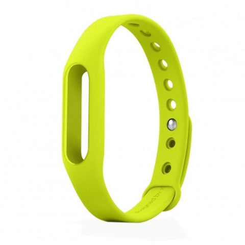 TPSIV Silicone Colorful Replacement Wristbands Bracelet for Xiaomi Smart Wristband (Host not include)(Green)