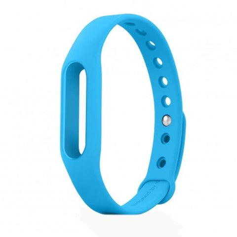 TPSIV Silicone Colorful Replacement Wristbands Bracelet for Xiaomi Smart Wristband (Host not include)(Blue)