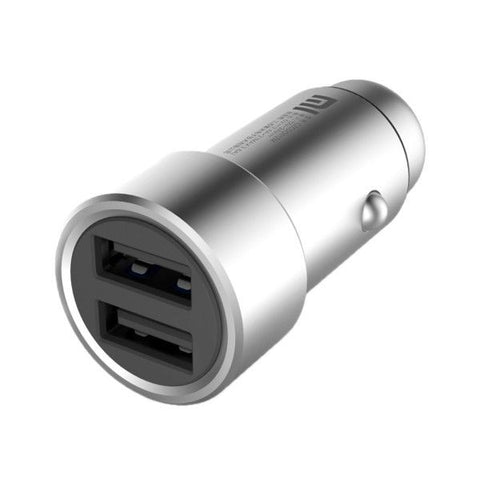 Xiaomi 5V 3.6A Max Output 2 USB Ports Universal Car Charger for 12 inch Macbook, iPhone & iPad, Other Tablet & Phone(Silver)
