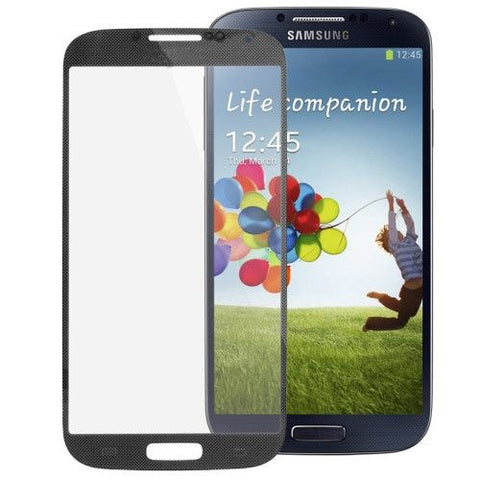 High Quality Front Screen Outer Glass Lens for Samsung Galaxy S IV / i9500(Black)