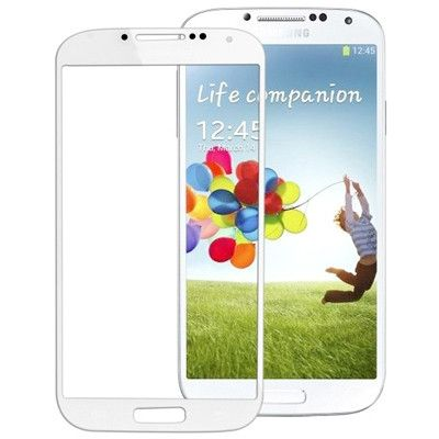 High Quality Front Screen Outer Glass Lens for Samsung Galaxy S IV / i9500(White)
