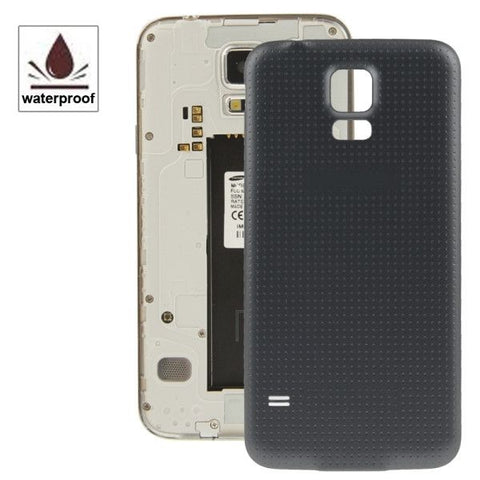 High Quality Plastic Material Replacement Battery Housing Door Cover with Waterproof Function for Samsung Galaxy S5 / G900(Black)