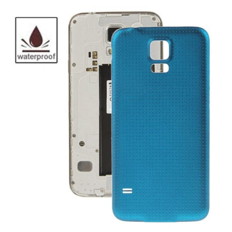 High Quality Plastic Material Replacement Battery Housing Door Cover with Waterproof Function for Samsung Galaxy S5 / G900(Blue)