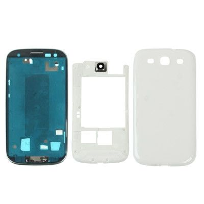 High Quality Full Housing Replacement Chassis for Samsung Galaxy SIII / i9300(White)