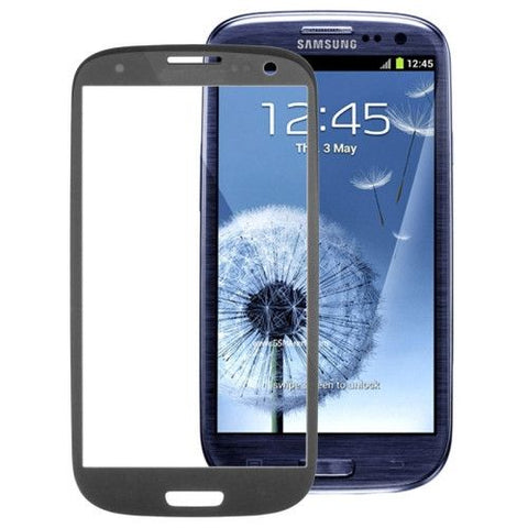High Quality Front Screen Outer Glass Lens for Samsung Galaxy SIII / i9300 (Dark Grey)