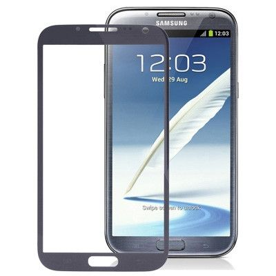 High Quality Front Screen Outer Glass Lens for Samsung Galaxy Note II / N7100 (Dark Grey)