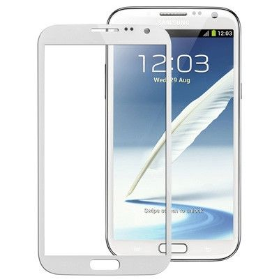 High Quality Front Screen Outer Glass Lens for Samsung Galaxy Note II / N7100 (White)