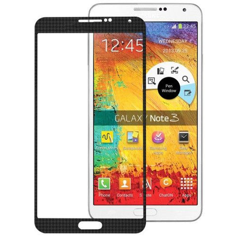 High Quality Front Screen Outer Glass Lens for Samsung Galaxy Note III / N9000 (Black)