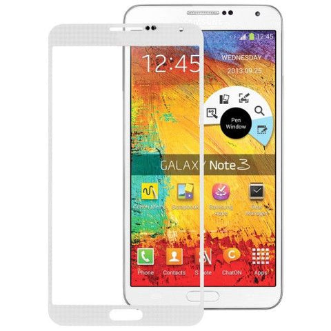 High Quality Front Screen Outer Glass Lens for Samsung Galaxy Note III / N9000 (White)
