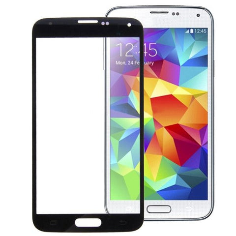 High Quality Front Screen Outer Glass Lens for Samsung Galaxy S5 / G900(Black)