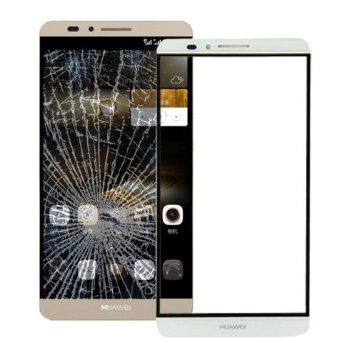 Front Screen Outer Glass Lens for Huawei Ascend Mate 7(White)