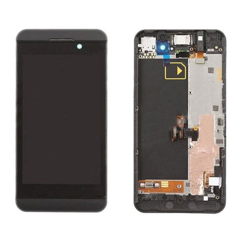 iPartsBuy LCD Screen + Touch Screen Digitizer Assembly with Frame for BlackBerry Z10 3G(Black)