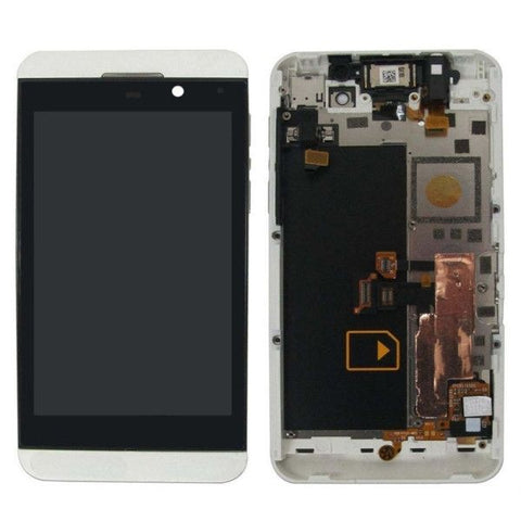 iPartsBuy LCD Screen + Touch Screen Digitizer Assembly with Frame for BlackBerry Z10 3G(White)