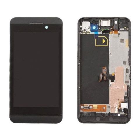 iPartsBuy LCD Screen + Touch Screen Digitizer Assembly with Frame for BlackBerry Z10 4G(Black)