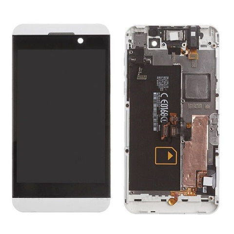 iPartsBuy LCD Screen + Touch Screen Digitizer Assembly with Frame for BlackBerry Z10 4G(White)