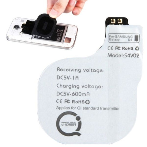 5V 600mAh Wireless Mobile Charge Receiver, Applies for Qi Standard, Special Design for Samsung Galaxy S IV / i9500(White)