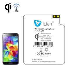 Itian 5V 600mAh Wireless Mobile Charge Receiver, Applies for Qi Standard, Special Design for Samsung Galaxy S5 / G900(White)