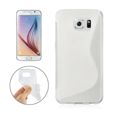 For Samsung Galaxy S6 / G920 S Line Anti-slip Frosted TPU Protective Case (Transparent)