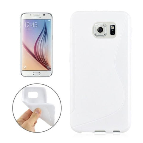 For Samsung Galaxy S6 / G920 S Line Anti-slip Frosted TPU Protective Case (White)