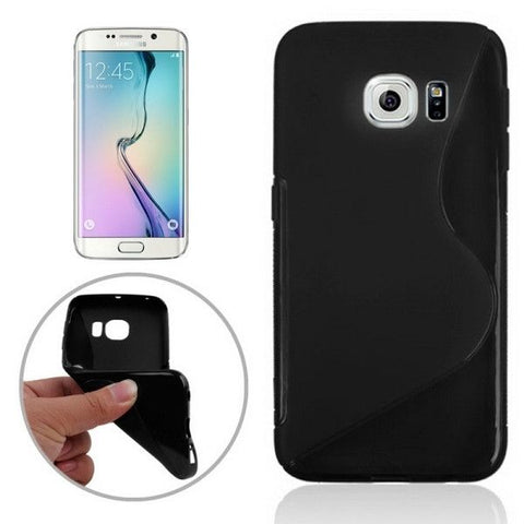 S Line Anti-slip Frosted TPU Protective Case for Samsung Galaxy S6 Edge / G925(Black)