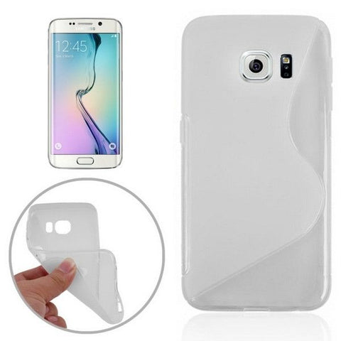 S Line Anti-slip Frosted TPU Protective Case for Samsung Galaxy S6 Edge / G925(Transparent)