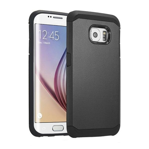Colorful Hybrid Slim Armor Plastic & TPU Protective Case for Samsung Galaxy S6 Edge(Black)