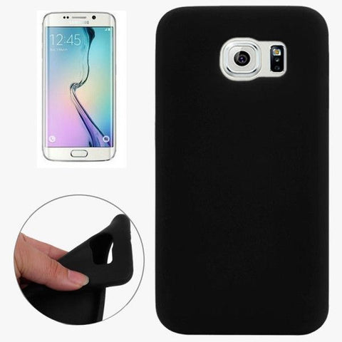 For Samsung Galaxy S6 / G920 Pure Color Silicone Protective Case (Black)