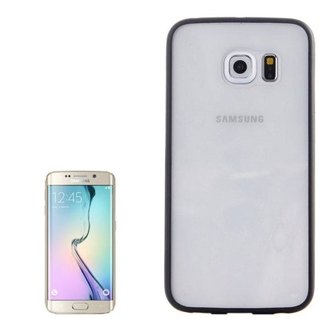 Anti-scratch Acrylic Material Transparent Back Shell Protective Case for Samsung Galaxy S6 Edge(Black)