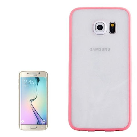 Anti-scratch Acrylic Material Transparent Back Shell Protective Case for Samsung Galaxy S6 Edge(Pink)