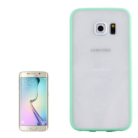 Anti-scratch Acrylic Material Transparent Back Shell Protective Case for Samsung Galaxy S6 Edge(Green)