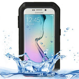LOVE MEI Metal Ultra-thin Waterproof Dustproof Shockproof Powerful Protective Case for Samsung Galaxy S6 Edge(Black) - Zasttra.com