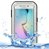 LOVE MEI Metal Ultra-thin Waterproof Dustproof Shockproof Powerful Protective Case for Samsung Galaxy S6 Edge(Silver) - Zasttra.com