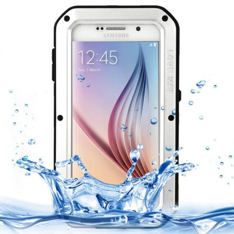 LOVE MEI for Samsung Galaxy S6 / G920 Metal Ultra-thin Waterproof Dustproof Shockproof Powerful Protective Case (Silver)