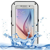 LOVE MEI Metal Ultra-thin Waterproof Dustproof Shockproof Powerful Protective Case for Samsung Galaxy S6 / G920(White) - Zasttra.com
