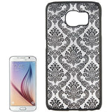 For Samsung Galaxy S6 / G920 Embossed Flowers Pattern Protective Hard Case (Black) - Zasttra.com