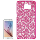 For Samsung Galaxy S6 / G920 Embossed Flowers Pattern Protective Hard Case (Magenta) - Zasttra.com