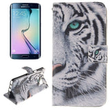 The White Tiger Pattern Double Print Horizontal Flip Leather Case with Holder & Card Slots & Wallet for Samsung Galaxy Note 5 Edge , Small Quantity Recommended Before Samsung Galaxy Note 5 Edge Launching - Zasttra.com