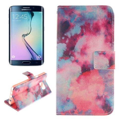Red Sky Pattern Double Print Horizontal Flip Leather Case with Holder & Card Slots & Wallet for Samsung Galaxy Note 5 Edge , Small Quantity Recommended Before Samsung Galaxy Note 5 Edge Launching