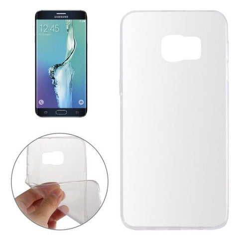 Smooth Surface TPU Case for Samsung Galaxy S6 Edge+ / G928(Transparent)