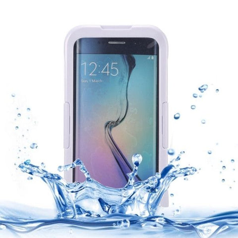 IP x 8 PVC + Silicone Transparent Universal Waterproof Protective Case with Lanyard for Samsung Galaxy S6 Edge+ / G928(White)