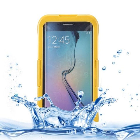 IP x 8 PVC + Silicone Transparent Universal Waterproof Protective Case with Lanyard for Samsung Galaxy S6 Edge+ / G928(Yellow)