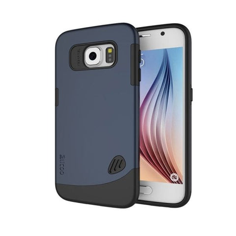 Slicoo for Samsung Galaxy S6 / G920 TPU + PC Combination Case?Navy Blue?